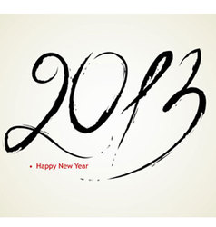 2013 calligraphy vector image