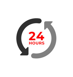 24h color icon and time concept vector