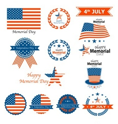 4th of july memorial day vector