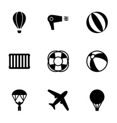 9 air icons vector