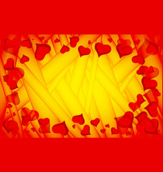 Abstract love background full of hearts vector