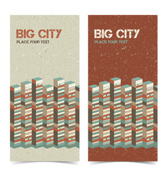 Architectural vertical banners vector