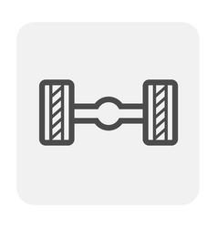 axle icon black vector image