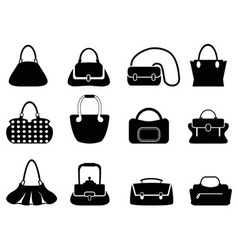 Bags silhouettes vector