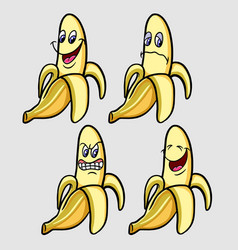 Banana emoticon icon vector