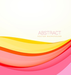 Beautiful colorful wave background with soft vector