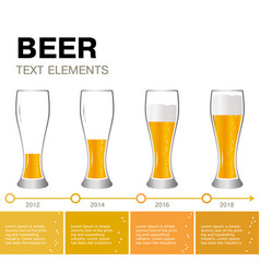 Beer infographic timeline achievements vector