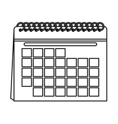 Blank calendar icon image vector