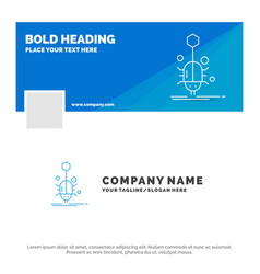 blue business logo template for bug insect spider vector image