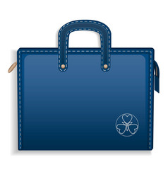 blue leather case icon realistic style vector image