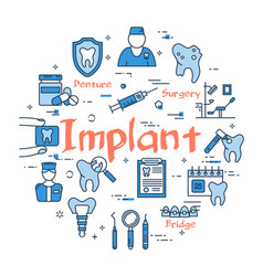 blue round implant concept vector image