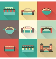 Bridge icon vector