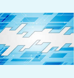 bright blue technology abstract background vector image