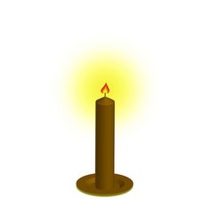 candle of icon vector image