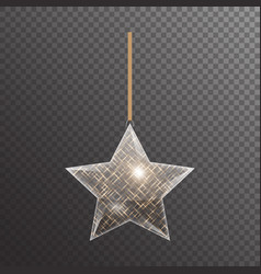 Christmas star with highlights vector