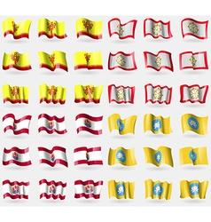 Chuvashia Sikkim French Polynesia Kalmykia Set of vector