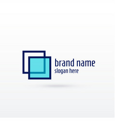 Clean sqaure logo concept design for your brand vector
