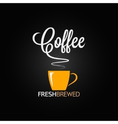 Coffee cup flavor design background vector