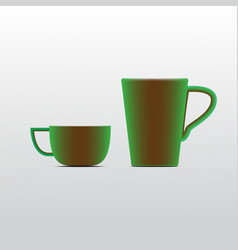 coffee cup on background vector image