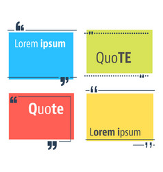 colored quote speech bubble template vector image