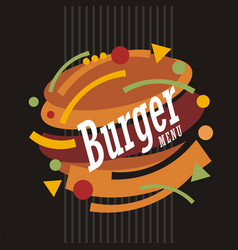 Creative artistic burger design vector