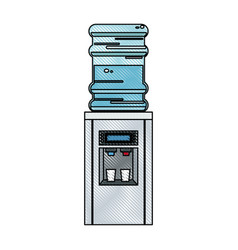 Drawing bottle cooler water electric dispenser vector