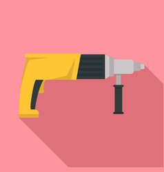 electric drill icon flat style vector image