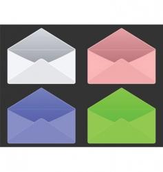 Empty envelopes vector