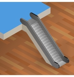 escalator stairway isometric vector image