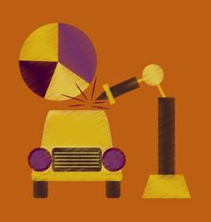 Flat shading style icon automotive industry vector
