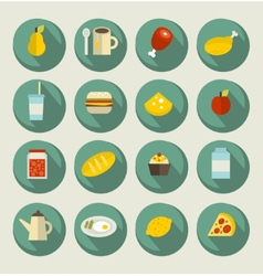 Food icon set on the banners vector
