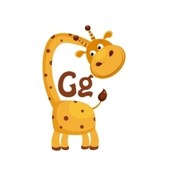 Giraffe Funny Alphabet Animal vector image