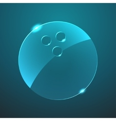 Glass bowling ball icon vector