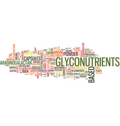 Glyconutrients how much to take text background vector