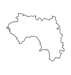 guinea map of black contour curves on white vector image