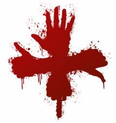 hand gestures ink splatter concept vector image