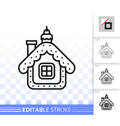 hanging house simple black line icon vector image