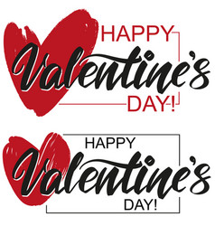 happy valentine s day text on background of vector image