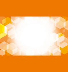 hexagon box on orange gradient abstract background vector image