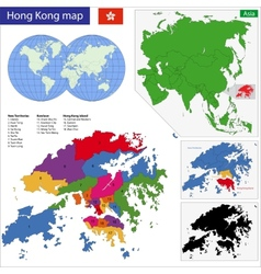 Hong Kong map vector image