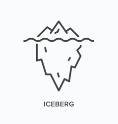iceberg flat line icon outline vector image
