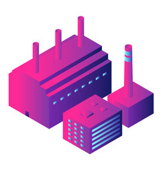 intelligent factory icon isometric style vector image