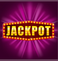 Jackpot winner banner shining retro sign vector