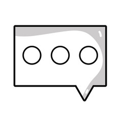 Line chat bubble to dialogue message text vector