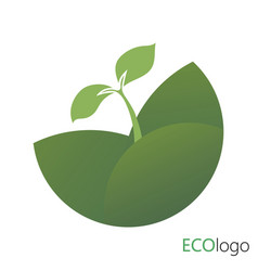 Logotype agriculture logo with a young plant vector