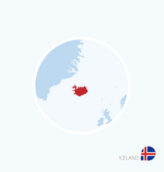 Map icon iceland blue map europe vector
