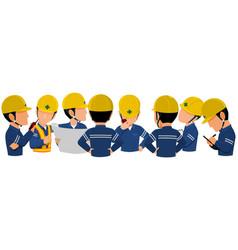 Meeting 8 people vector