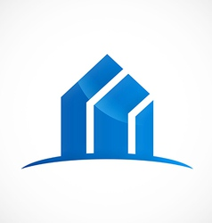 modern building absract logo vector image