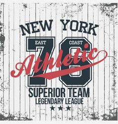 new york sportswear emblem athletic university vector image