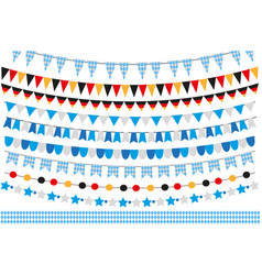 Oktoberfest set of flags bunting garland vector